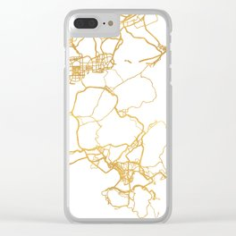 HONG KONG CHINA CITY STREET MAP ART Clear iPhone Case