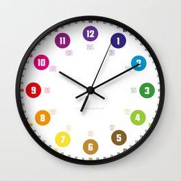 Lernuhr EasyRead Ziffernblatt Kinderuhr Kinderzimmeruhr schlichtes farbenfrohes Regenbogen-Design Regenbogenuhr Wall Clock