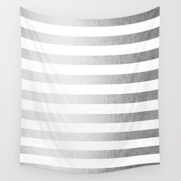 Simply Striped Moonlight Silver Wall Tapestry