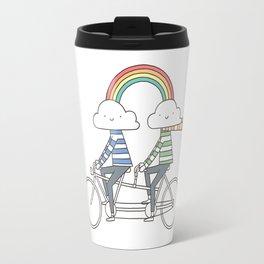 Love makes life a beautiful ride Travel Mug