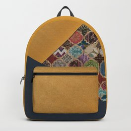 N11 - Vintage Traditional Moroccan Artwork Mixed with Modern Colored Touch. Backpack