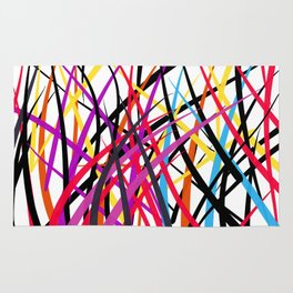 tangled up in colors Rug