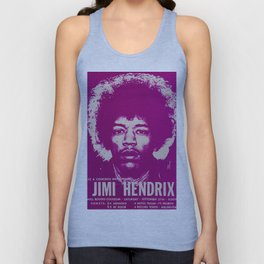 1969 Jimi Hendrix Concert Handbill Poster, Will Rogers Colosseum, Ft. Worth, Texas Unisex Tank Top
