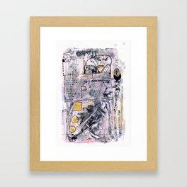 Abstrat Art gold pink Framed Art Print