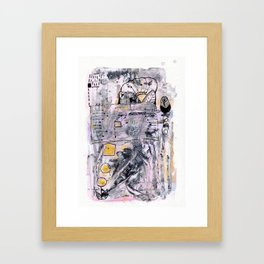 Abstrat Art gold pink Framed Art Print