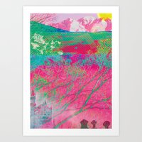 Ancients Candyfloss Forest Art Print