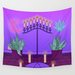 Ultraviolet Temple Wall Tapestry
