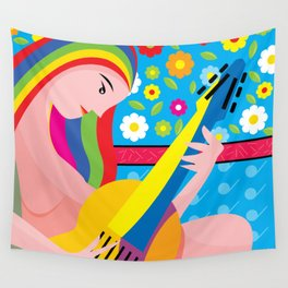 The-musician Wall Tapestry
