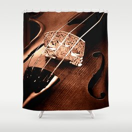 Violin Body Instrument Wall Art Musical Home Decor A083 Shower Curtain