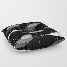 Atomic Space Age Black Floor Pillow