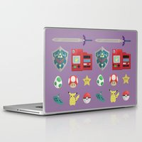 video games Laptop & iPad Skins featuring video games by Black