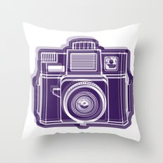 I Still Shoot Film Holga Logo - Deep Purple Throw Pillow