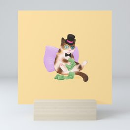 Cash Cat Mini Art Print
