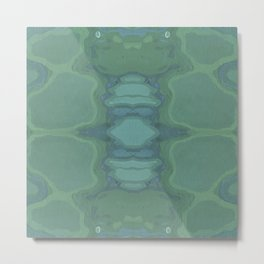 Art Nouveau Green Panel Metal Print