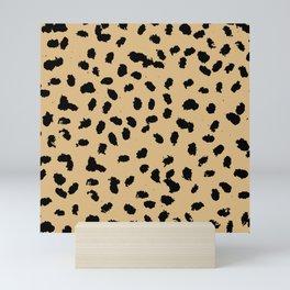 Little raw dalmatian spots cheetah animals print trend rusty honey yellow summer Mini Art Print