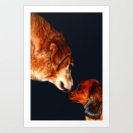 Kodiak and Bailey Art Print