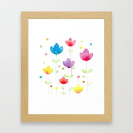Flowers and joy Framed Art Print