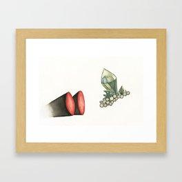 Coveted Jewels Framed Art Print