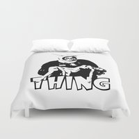 the thing Duvet Covers featuring THING by Taylor Bissett