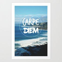 Carpe Diem Tropical Paradise Art Print