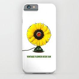 ORGANIC INVENTIONS SERIES: Vintage Flower Desk Fan iPhone Case