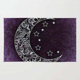 Purple Abstract Moon Rug