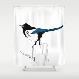 Pica Pica Shower Curtain