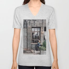 Outdoor Lunch Unisex V-Neck