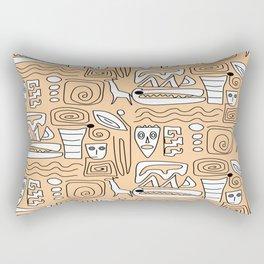 African Tribal  Symbols Rectangular Pillow
