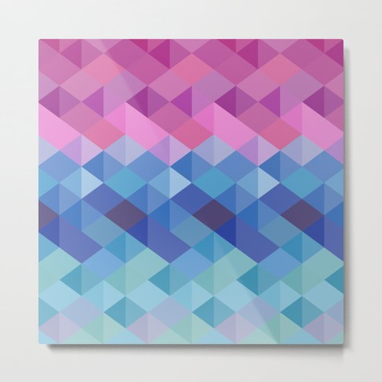 Retro Geometry Metal Print