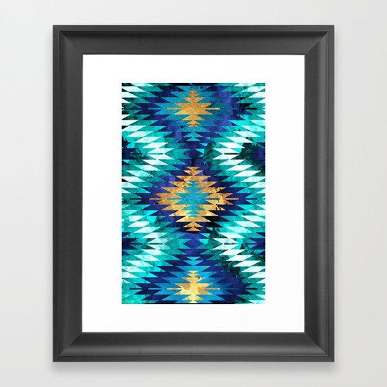 Inverted Navajo Suns Framed Art Print
