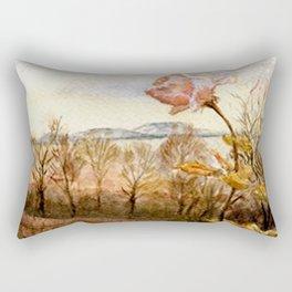 Autumn at the Lake Balaton Rectangular Pillow