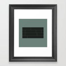 #5 Bricks – Geometry Daily Framed Art Print