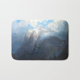 Mount Brewer from King's River Canyon, California Bath Mat