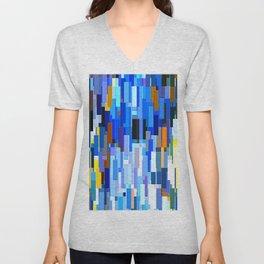illustrations abstract colorfu Unisex V-Neck
