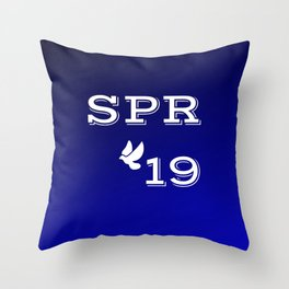 Spring 19 Blue and White Limited Edition Throw Pillow