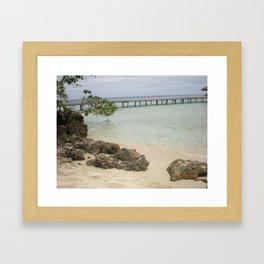 Tiny Beach Framed Art Print