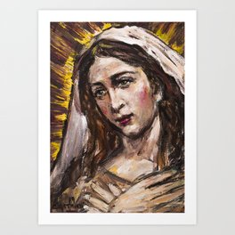 Adoration of Mary Art Print
