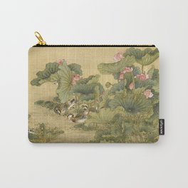 Shen Nan Pin - Album Of Birds And Animals (Mandarin Ducks And Lotus Flowers). Carry-All Pouch