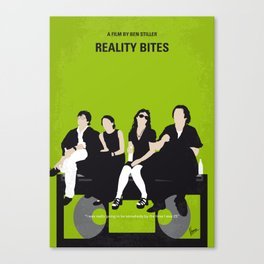 No938 My Reality Bites minimal movie poster Canvas Print