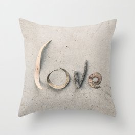 4 Letters Throw Pillow