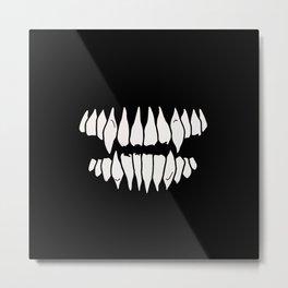 Fangs Metal Print
