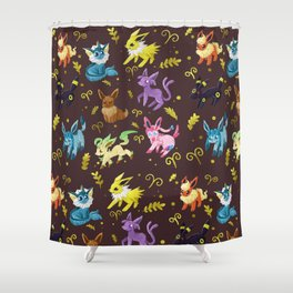 Eeveelutions Shower Curtain