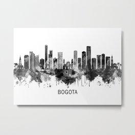 Bogota Colombia Skyline BW Metal Print