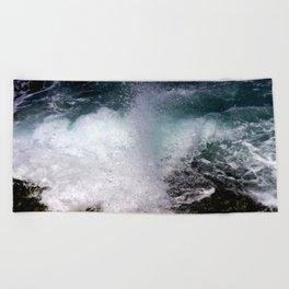 Wave Splash Beach Towel