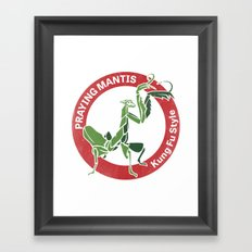 Praying Mantis Style Framed Art Print