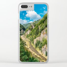 Carpathian Mountains View On Transfagarasan Road In Romania, Summer Landscape, Transylvania Mountain Clear iPhone Case