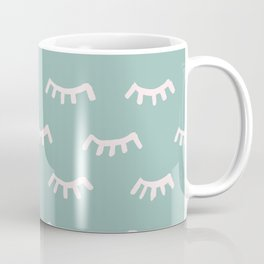 Mint Sleeping Eyes Of Wisdom - Pattern - Mix & Match With Simplicity Of Life Coffee Mug