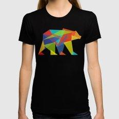 Fractal Geometric bear Womens Fitted Tee LARGE Black