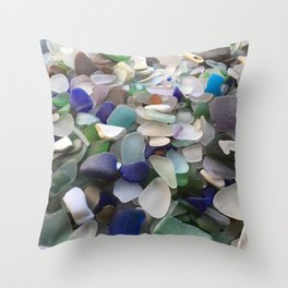 Sea Glass Assortment 2 Throw Pillow